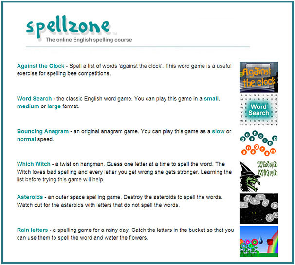 English spelling games